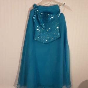 Mori Lee One shoulder Sequin Prom Dress